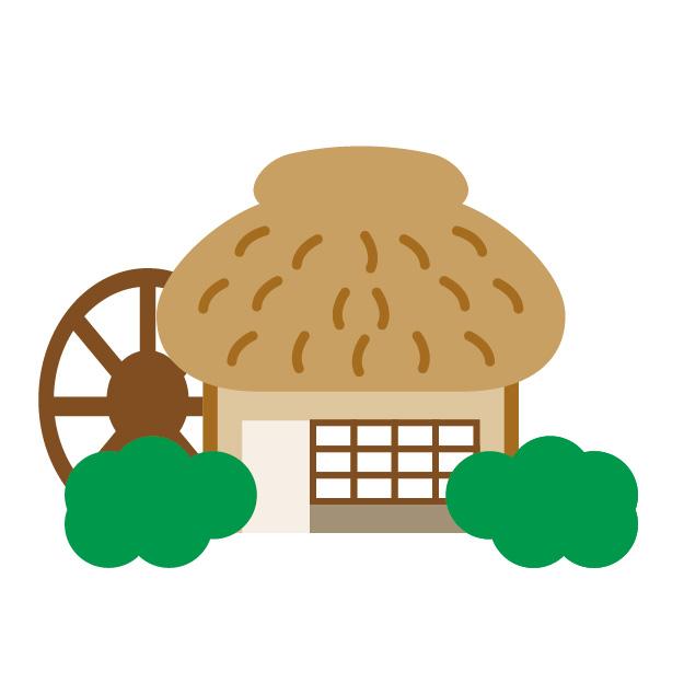 村のイラスト